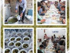 توزیع غذای نذری,خبرلنده,ماه مبارک رمضان,آش نذری,سنت,سنت حسنه,شهرستان لنده,اخبار لنده
