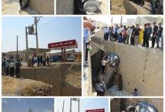 تصادف,پمپ گاز,حادثه,خودروی پژو405,خبرلنده,سقوط,نداشتن گارد ریل,اخبار لنده